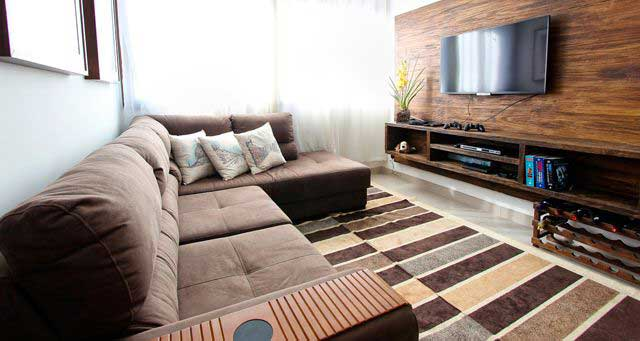 vivienda salon alfombra